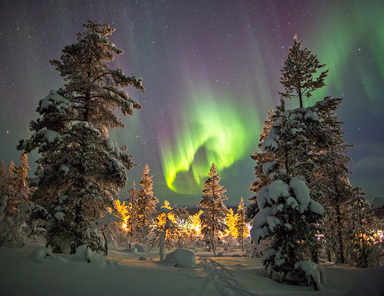 Northern Lights in Lapland, Finland.